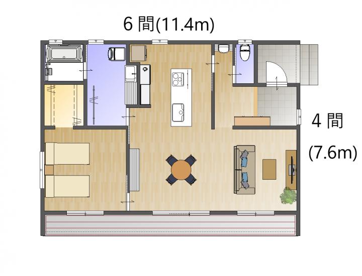 【木づなの家 HIRAYA】種類は3フレーム